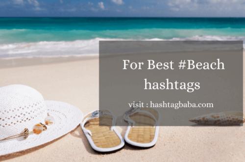 beach hashtags by Hashtag baba
