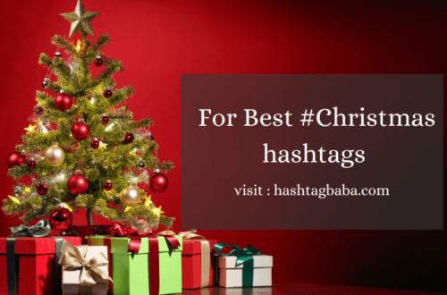 Christmas hashtags by hashtag baba